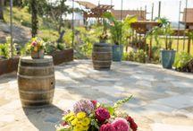 Wine Barrels and Bar and Propane Heater