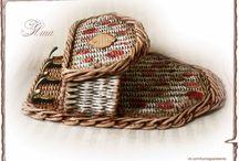 Ключницы / Плетение из газет