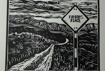 #Linocut Competition Entries / Entries for our #linocut competition.