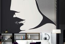 Cool wall painting of girls face
