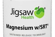 Jugsaw Health - Magnesium / We have Magnesium Calcium Plus 60, Magnesium w/SRT 120 tabs, and the 240 count. All by Jigsaw health. Balancing magnesium calcium. Jigsaw is used to help balance your calcium and magnesium levels.