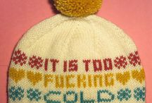 Knitted and croched hat