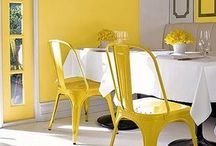 INTERIORS: yellow / cheery and bright, yellow can't help but to elevate a spaces' mood