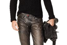 Leather casual wear