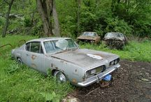 Abandoned cars and barn finds