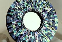 Mosaics: functional art / Mirror and picture frames, interior furniture, lamps, light switch plates, candle cups, vases, teapots, boxes, trivets