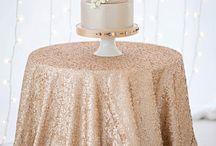Blush glamour wedding