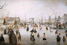 De Gouden Eeuw in De Nederlanden ~ Hendrick Avercamp / Bijgenaamd 'de Stomme van Kampen'. 1585 Amsterdam - 1634 Kampen. Leerling van Gillis van Coninxloo.
