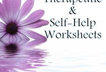 Therapeutic self help worksheets / Counselling