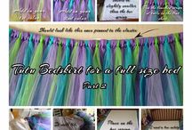 tulle bed skirts