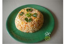 Rice Varieties / A variety of yummy rice recipes prepared for lunch.