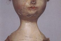 Doll faces / Shape and features, including hair, of period doll's faces / by Kathy Smith