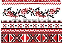 Folk art patterns