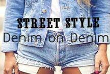 Denim on Denim / Denim on Denim // http://www.missesdressy.com/blog/category/streetstyle / by MissesDressy