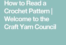 How to read crotchet patterns and stiches