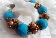 Felt jewelry / My handmade felt jewelry.