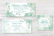 Inviti, partecipazioni di matrimonio e dettagli illustrati