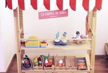Kids Play Market Ideas / Ideas for shops, market stalls etc for children's creative play!