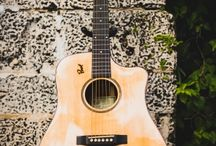 Custom Handmade Solid Cocobolo Rosewood with Spruce Top Dreadnought by Pinol Guitars and Ukuleles