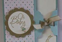Karten Baby & Kind / Cards Baby & Kids / Karten und weitere Papierkreationen zum Thema Baby & Kind - gestaltet vorzugsweise mit Produkten von Stampin´Up!