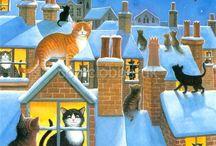 Hiver et de Noel, Winter and Christmas
