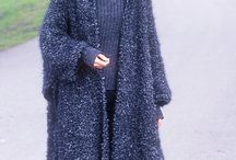 Long knit coat