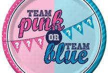 Team Pink or Team Blue? Gender Reveal Party Ideas / Team Pink or Team Blue? Gender Reveal Party Ideas to throw a fabulous Team Pink or Team Blue party. Check out our favorite party supplies for this occasion, as well as some great ideas from across Pinterest. Throw the best Team Pink or Team Blue Gender Reveal party. May the best team win!