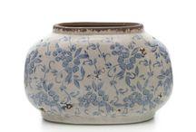 blue flowers ceramica