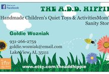 The A.D.D. Hippie - In Stock and ready to ship! / Lots of great toys and activities that are in stock and read to ship!
