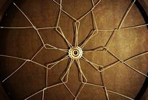 Wall Mandalas / Modern recycled bicycle-wheel home decor made from bike wheels that are no longer rideable. These wheels would normally be tossed out by bicycle shops and end up in the landfill. Instead, we rescue each wheel and re-envision them into beautiful wall decor using traditional bike wheel building techniques.