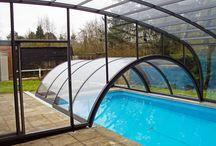 Kombinace zastřešení bazénů / Bazénové zastřešení COMBI je kombinace dvou nebo tří různých typů zastřešení.
