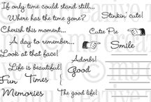 Cherish This Moment / Inspiration for this stamp set!