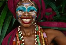 African face paint and authentic looks