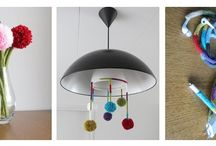 Punniken & Pompons - Spoolknitting & PomPoms / by Spirae Art