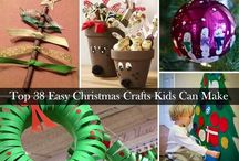 Christmas Crafts For Kids / Christmas craft ideas for your little ones to have fun with this holiday season. DIY Christmas decorations, homemade gift ideas, and Christmas activity ideas for kids at home and in the classroom.