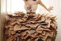 diseño vestido fantasia reciclable