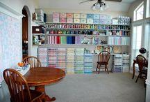 Craftroom ideas / Gave hobby en craftroom ideeën en handige opbergtips