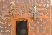 African hand painted walls