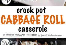 Crock pot and casseroles