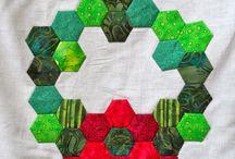 Christmas Hexagon Quilts