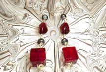 Earrings handmade-Silver and Gemstones