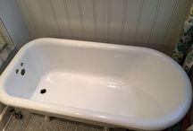 cast iron tub / by Brenda Sorrells