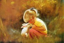 Дети в живописи / Children in painting / живопись... детство...