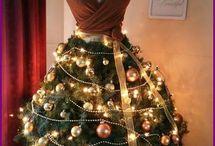 Χριστουγεννιάτικα Δέντρα από Κούκλες Μοδιστρικής