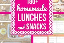 180 plus, homemade lunches &  snacks for kids