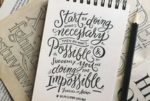 Sketches/ Typography