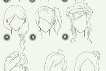 Hair style drawing