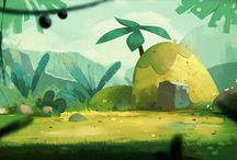 WORLDS / Backgrounds, environments, imaginative landscapes