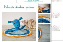 Baby crochet toys / Amigurumi toys & crochet. Rattles. Mobile crib. Security blankets (doudou)...