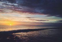 Beach sunset / West sumatra beach , indonesia